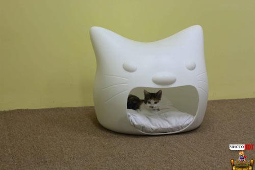 Домики для кошек в форме кошек - проект от студии MANGO