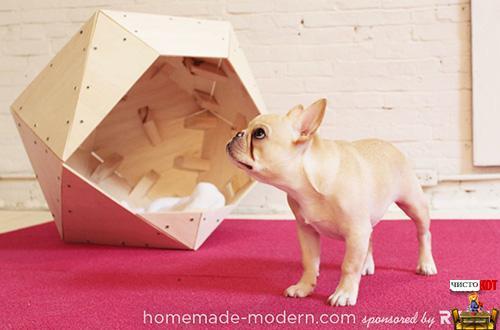 Как домики для собак своими руками видео
