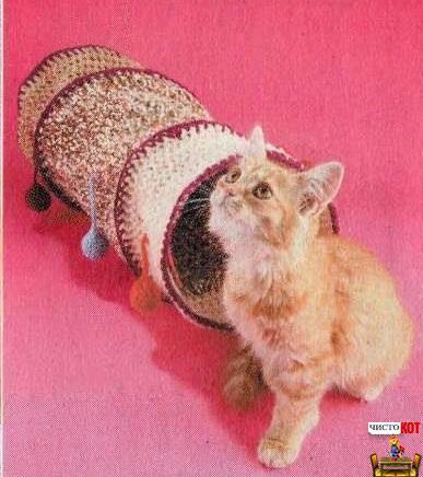 Как сделать лабиринт для кошки — труба с цветными шариками - 1