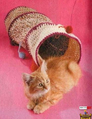 Как сделать лабиринт для кошки — труба с цветными шариками - 2