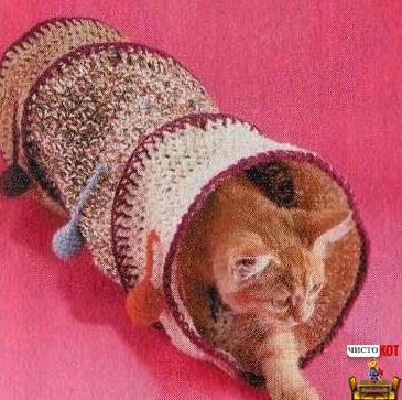 Как сделать лабиринт для кошки — труба с цветными шариками - 3