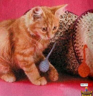 Как сделать лабиринт для кошки — труба с цветными шариками - 4