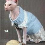 Одежда для лысых кошек — Голубое платье