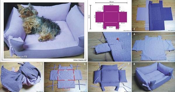 Собачья кровать своими руками