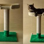Как сделать когтеточку с лежанкой для кошки. Пошаговая инструкция