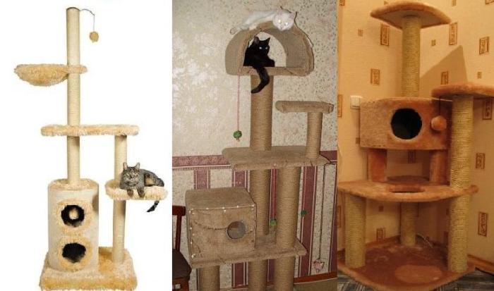 Фото домик для кошки своими руками