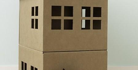 Делаем дом для кошки из картонной коробки