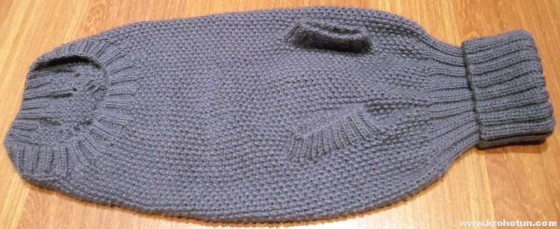 Как связать свитер для таксы