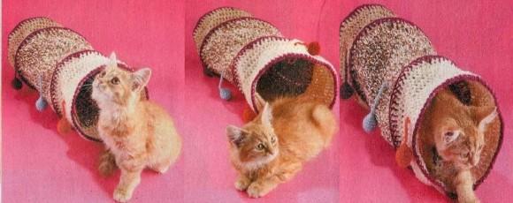 Как сделать лабиринт для кошки – труба с цветными шариками