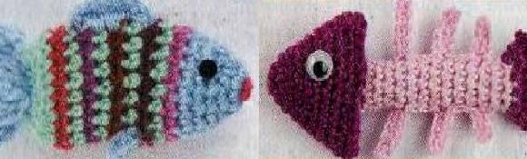 Самодельные игрушки для кошек – вязанные рыбка и скелет рыбки