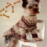 Вязание спицами одежды для собак – свитер с косами