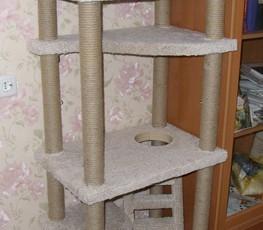 Делаем домик для кошки сами
