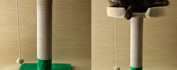 Как сделать когтеточку с лежанкой для кошки: пошаговая инструкция
