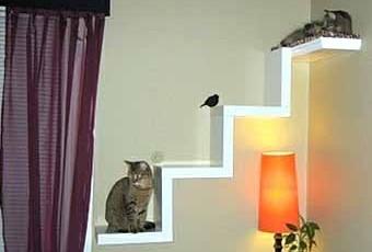 Оригинальные предметы интерьера для кошек